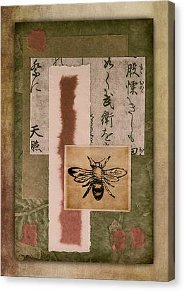 Bee Papers Canvas Print by Carol Leigh