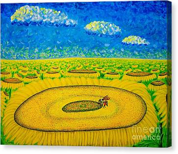 Canvas Print featuring the painting Bee by Viktor Lazarev
