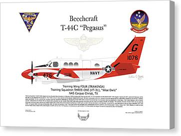 Beechcraft T-44c Pegasus Canvas Print by Arthur Eggers