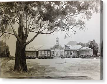 Beechwood School Building Canvas Print