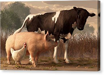 Beef Pork And Poultry  Canvas Print by Daniel Eskridge