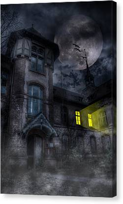 Berlin Germany Canvas Print - Beelitz Horror Nights by Nathan Wright