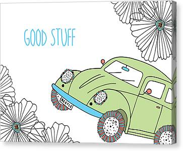 Beep Beep Beetle Variant 1 Canvas Print by Susan Claire