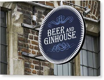 Beer And Ginhouse Canvas Print by David Freuthal