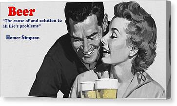 Beer Canvas Print by Bill Cannon