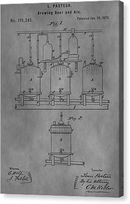 Beer Brewery Apparatus Patent Canvas Print