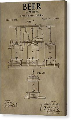 Beer Brewery Patent Canvas Print