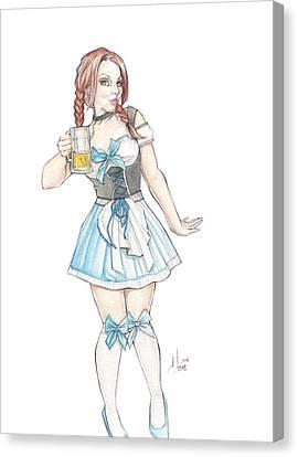 Beer Girl Canvas Print