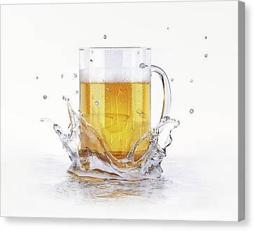Tankard Canvas Print - Beer Glass by Leonello Calvetti