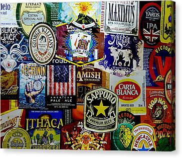Beer Labels Canvas Print by Richard Reeve