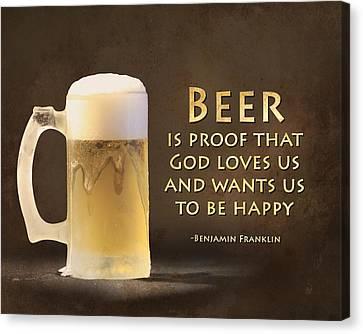 Beer Canvas Print by Lori Deiter