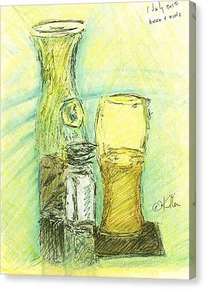 Beer N Nuts Canvas Print by William Killen