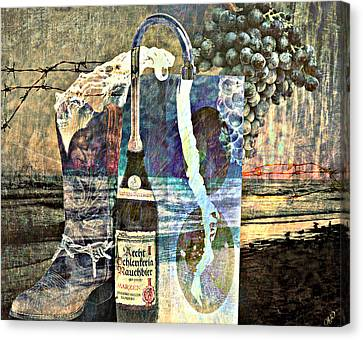 Canvas Print featuring the mixed media Beer On Tap by Ally  White