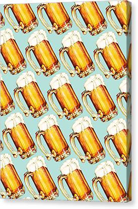 Beer Pattern Canvas Print