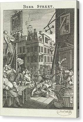 Beer Street Canvas Print by British Library