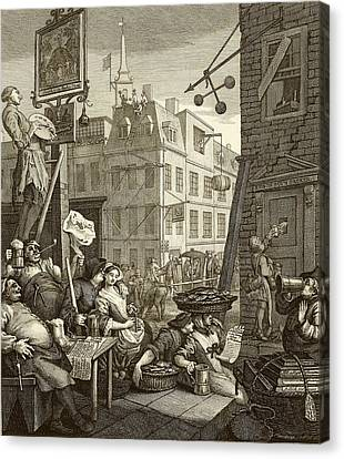 Hogarth Canvas Print - Beer Street By William Hogarth by National Library