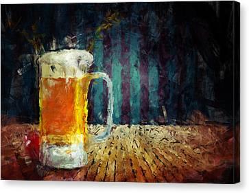 Beer Time Canvas Print by Adam Vance