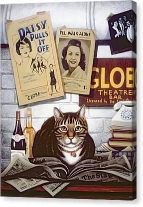 Beerbohm, The Theatre Cat Oil & Tempera On Panel Canvas Print