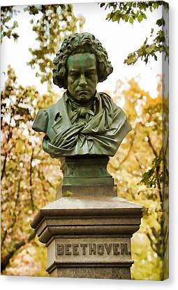 Beethoven In Central Park Canvas Print by Alice Gipson