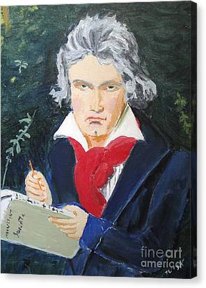 Canvas Print featuring the painting Beethoven by Judy Kay