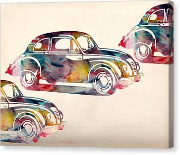 Beetle Car Canvas Print by Mark Ashkenazi