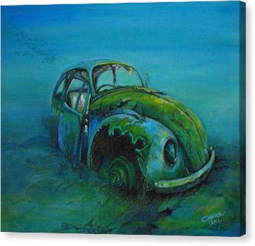 Beetle Forever Canvas Print by Ottilia Zakany