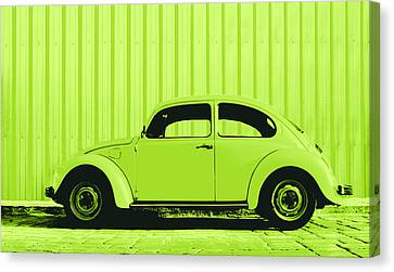 Beetle Pop Lime Canvas Print by Laura Fasulo