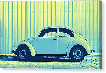 Volkswagon Canvas Print - Beetle Pop Sky by Laura Fasulo