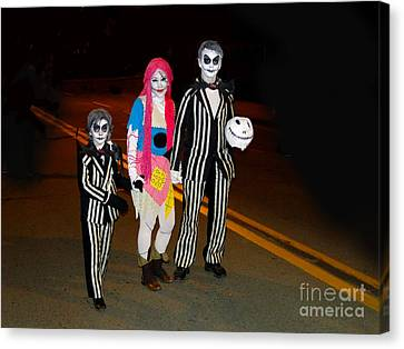 Beetlejuice And Family Canvas Print by Al Bourassa