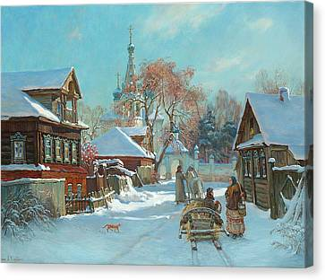 Before Russian Christmas Canvas Print by Korobkin Anatoly
