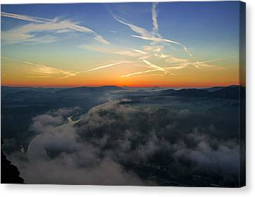 Before Sunrise On The Lilienstein Canvas Print