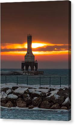 Before The Blizzard Canvas Print