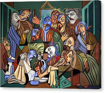 Before The Last Supper Canvas Print by Anthony Falbo
