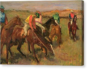 Bay Horse Canvas Print - Before The Races by Edgar Degas