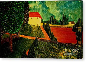 Canvas Print featuring the painting Before The Rain by Bill OConnor