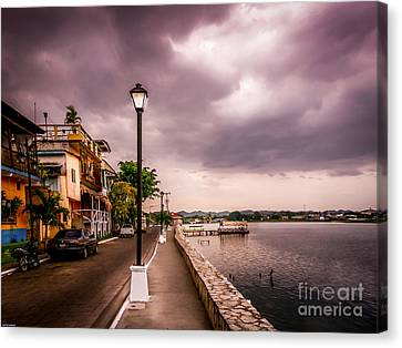Streetlight Canvas Print - Before The Storm by Catherine Arnas