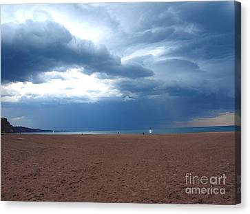 Canvas Print featuring the photograph Before The Storm by Susan  Dimitrakopoulos