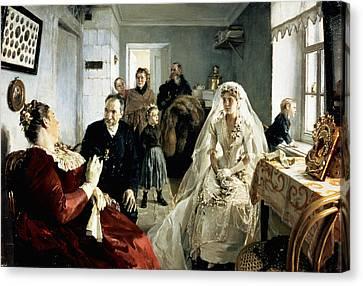 Before The Wedding Canvas Print by Illarion Mikhailovich Pryanishnikov