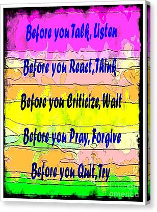 Before You Quit  Canvas Print by Barbara Griffin
