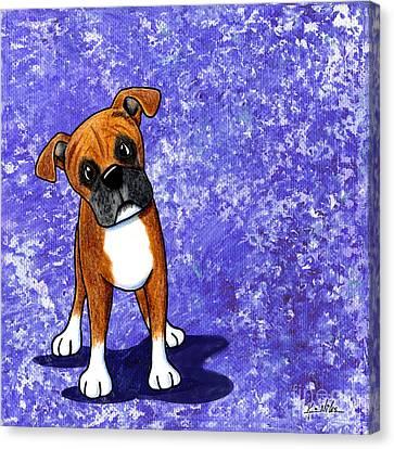 Befuddled Boxer Canvas Print by Kim Niles