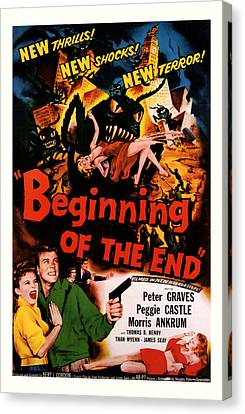 Beginning Of The End 1957 Canvas Print by Presented By American Classic Art