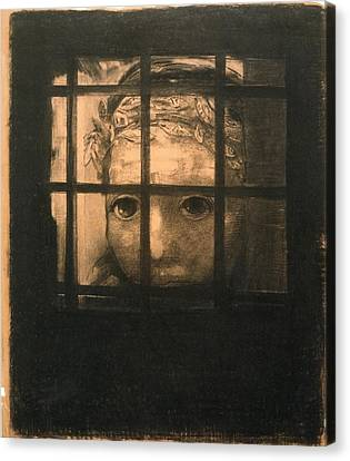 Behind Bars Canvas Print by Odilon Redon