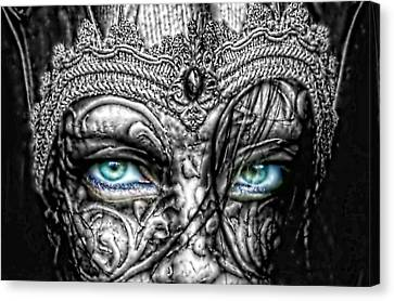Behind Blue Eyes Canvas Print by Mo T