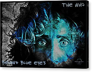 Behind Blue Eyes - The Who Canvas Print by Absinthe Art By Michelle LeAnn Scott