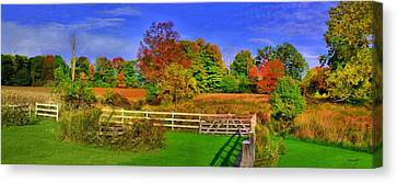 Behind The Barn Canvas Print by Dennis Lundell