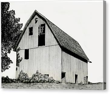 Behind The Barn Canvas Print by Todd Spaur