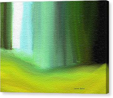 Behind The Curtain Canvas Print by Lenore Senior