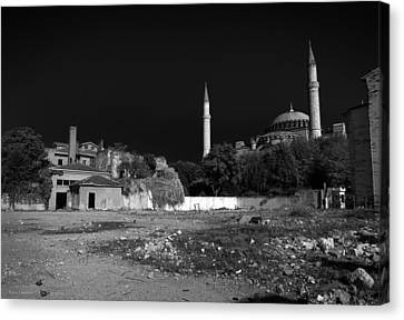 Canvas Print featuring the photograph Behind The Hagia Sophia by Ross Henton