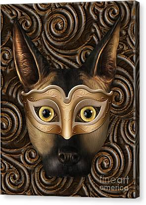 Behind The Mask Canvas Print by Bedros Awak