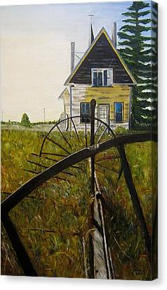 Canvas Print featuring the painting Behind The Old Church by Marilyn  McNish